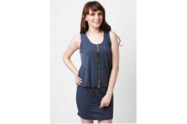 Poivre Gray dress with beaded strip