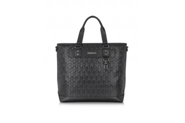 Large Embossed Leather E/W Tote
