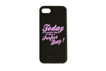Today is a perfect day to have a perfect day iPhon Attitude iPhone Charger Case by CafePress