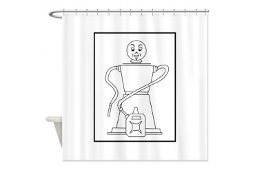 No.9 Military Petrol Filling Centre Military Shower Curtain by CafePress