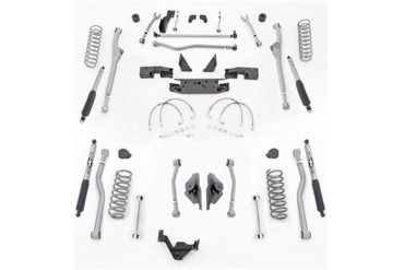 Rubicon Express 4.5 Inch Extreme Duty Radius Front/Rear 4-Link Long Arm Lift Kit with Mono-Tube Shocks JKR444M Complete Suspension Systems and Lift Kits