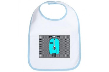 Blue Scooter Retro Bib by CafePress