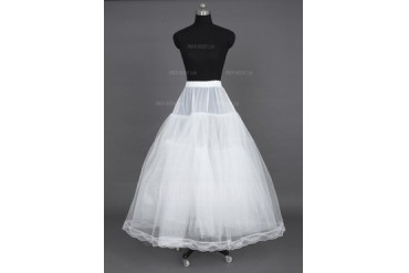 Women Nylon/Tulle Netting Floor-length 3 Tiers Petticoats (037023568)