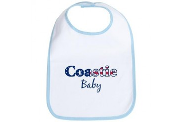 Coastie Baby Patriotic Military Bib by CafePress