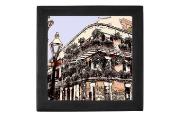 Royal Street Balcony Art New orleans Keepsake Box by CafePress