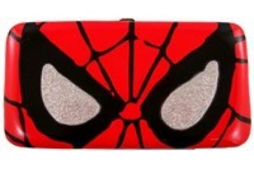 Marvel Comics Spider-Man Big Face Glittery Eyes Clutch Wallet