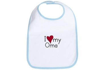 I Love my Oma Baby / kids / family Bib by CafePress