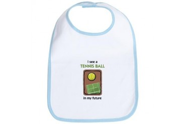 I see a Tennis Ball in my Future Sports Bib by CafePress