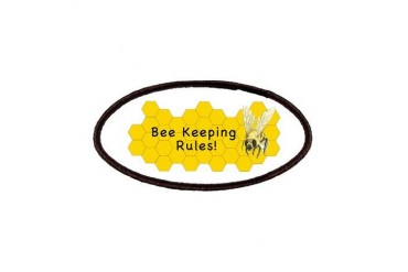 Bee Keepers Rule Art Patches by CafePress