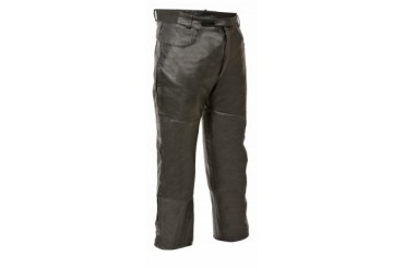 Mens Leather Jean Style Pocket Over Pants