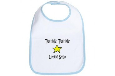 Twinkle Twinkle Little Star - Cute Bib by CafePress