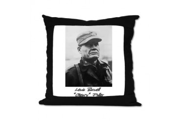 Chesty Puller w text Usmcfp Suede Pillow by CafePress
