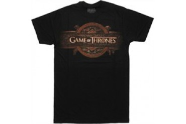 Game of Thrones Gray Name Opening Logo T-Shirt Sheer