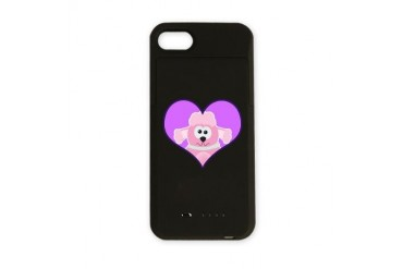 poodle heart.png Funny iPhone Charger Case by CafePress