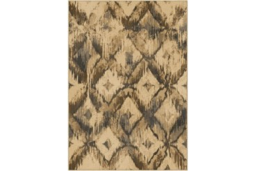 Orian American Heirloom Contemporary Beige Geometric Boxes Lines Area Rug