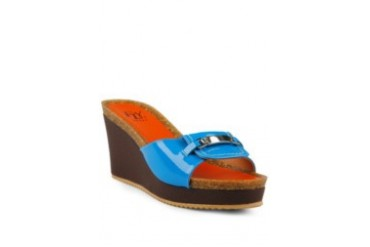 FLY FLY Betzy Sandal Wedges Blue