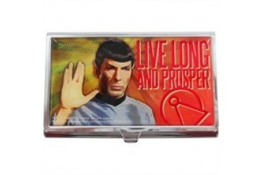 Star Trek Spock Live Long and Prosper Metal Card Case