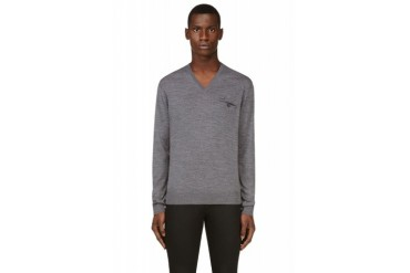 Dsquared2 Grey Knit Pocket Sweater