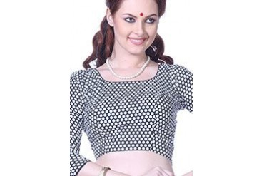 Retro Polka Dotted Lootera Style Blouse
