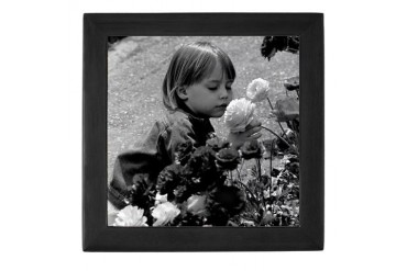 Stop to Smell the Flowers Art Keepsake Box by CafePress