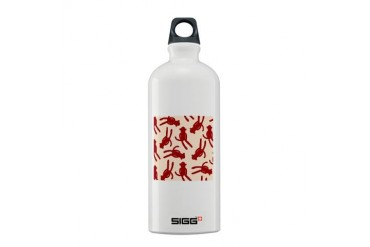 Silhouette Sock Monkey Holiday Sigg Water Bottle 0.6L by CafePress