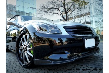 Access Evolution MC before EXS Front Lip Spoiler Carbon Type B Infiniti G37 07-13