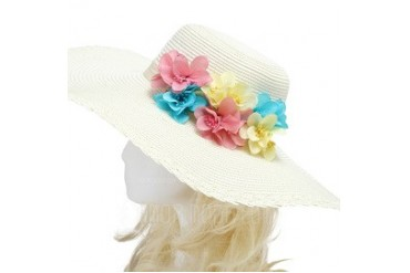 Colorful Imported Paper/Rattan Straw Hats (042052519)