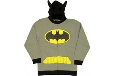 DC Comics Batman Costume Suit Mask Full Zipper Hooded Sweatshirt
