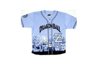 Dragon Ball Z Blue Youth Baseball Jersey