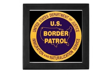 Border Patrol Military Keepsake Box by CafePress