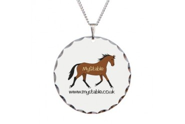 MyStable Horse Necklace Circle Charm by CafePress