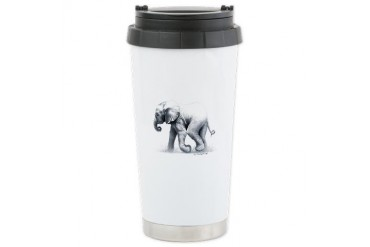 Baby Elephant Ceramic Travel Mug