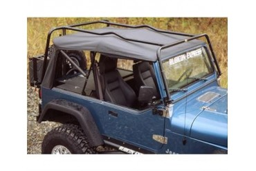 Kargo Master Congo Cage and Safari Rack Package for YJ Wrangler and CJ 50400 Roof Rack