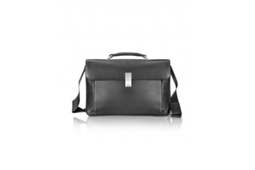 Cervo 2.0 - Black Leather Briefcase