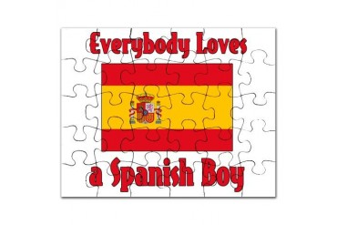 Everybody Loves a Spanish Boy Spanish Puzzle by CafePress