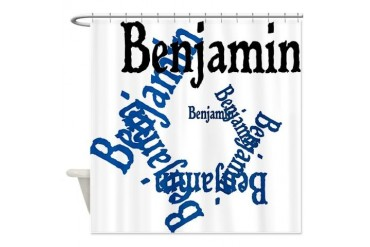 Benjamin Baby Shower Curtain by CafePress