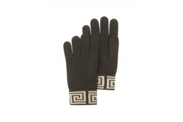 Greca Logo Wool Blend Men's Gloves