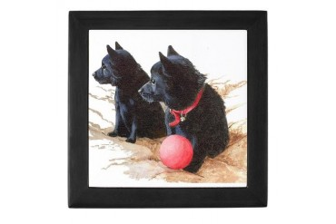 Schipperke 10 Pets Keepsake Box by CafePress
