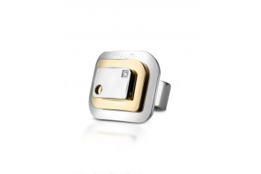 Kimana - Diamond Polished Stainless Steel Ring
