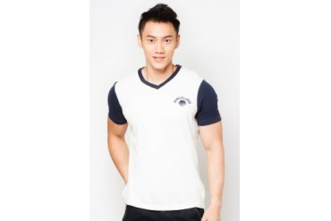 GymCollege Contrast Sleeve T-Shirt