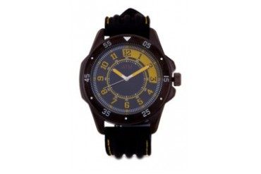 A Time Machine ATM 1009NUNY Black Silicon Strap Watch