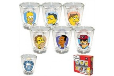 Simpsons Moe's Tavern Shot Glass Set