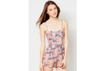 Material Girl Tokyo Watercolor Molded Cup Playsuit