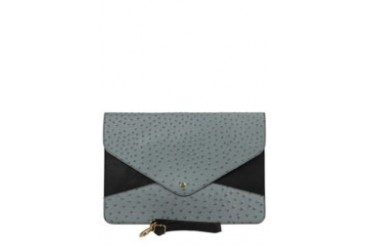 KUKI Bags Calista iPad Tab Ostrich Patterned Paper Clutch