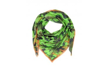 Camouflage Fluo Cotton Voile Wrap