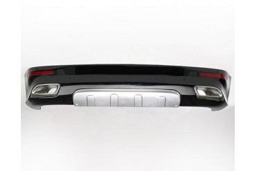 Hofele Rear Bumper Apron wIntegrated Tailpipes Volkswagen Touareg w Hitch 02-07