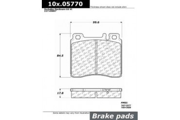 1992-1993 Mercedes Benz 300SD Brake Pad Set Centric Mercedes Benz Brake Pad Set 104.05770 92 93
