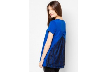 TLA Short Sleeve Top With Lace