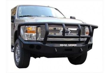 Road Armor Front Stealth Winch Bumper with Titan II Guard in Satin Black 60802B Front Bumpers