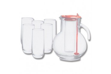 Bormioli Fresco Tea Pitcher and Tumblers